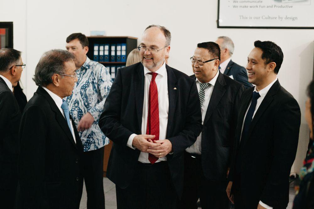 William Joseph Johnston visiting Simply Stainless factory in Surabaya Indonesia